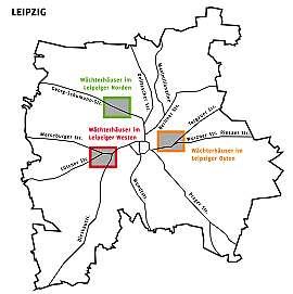Schwerpunktgebiete: Wächterhäuser in Leipzig